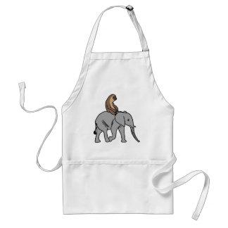 Cute Sloth Riding an Elephant Standard Apron