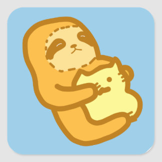 Cute sloth stickers