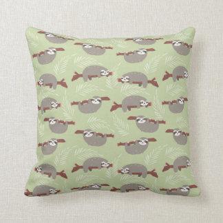Cute Sloths Pattern Cushion