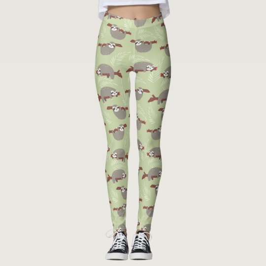 Cute Sloths Pattern Leggings