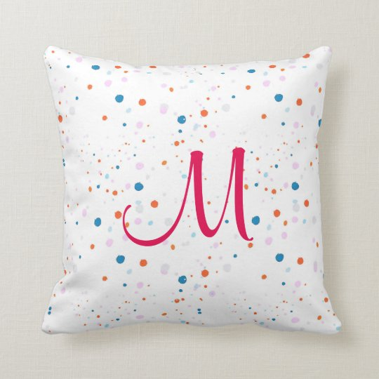 Cute small colourful polka dots cushion, pillow