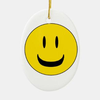 cute smile ceramic oval decoration