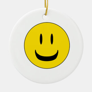 cute smile christmas ornament