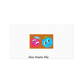 Cute Smiley Alex And Ally. Canvas Prints