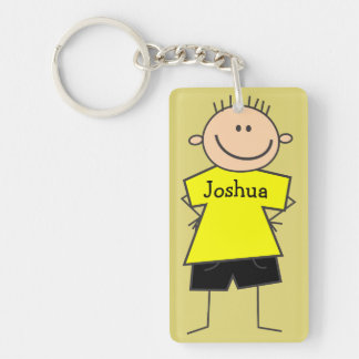 Cute Smiley Boy Design Personalized Key Chain