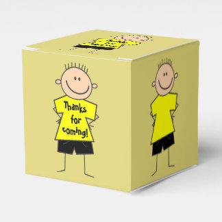 Cute Smiley Boy Stick Figure Favor Box Favour Box
