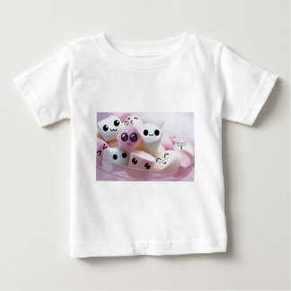 cute smiley face marshmallows baby T-Shirt