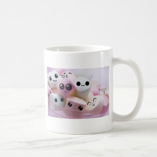 cute smiley face marshmallows basic white mug