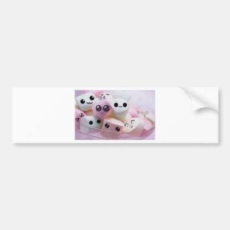 cute smiley face marshmallows bumper sticker