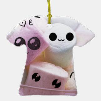 cute smiley face marshmallows ceramic T-Shirt decoration
