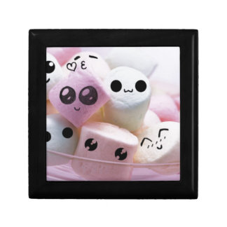 cute smiley face marshmallows small square gift box