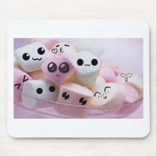 cute smiley face marshmallows mouse pad