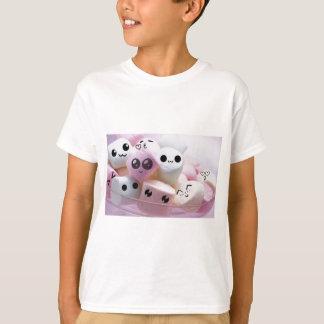 cute smiley face marshmallows t shirt