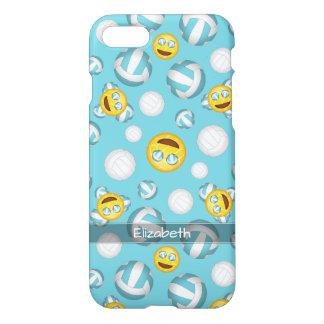 cute smiley girls' volleyball emoji pattern iPhone 8/7 case