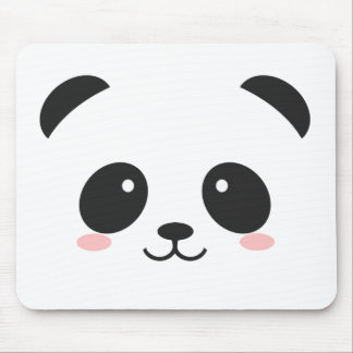 Cute Smiley Panda Mouse Mat