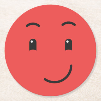 Cute Smiley paper coasters 1/9