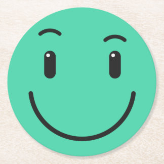 Cute Smiley paper coasters 2/9