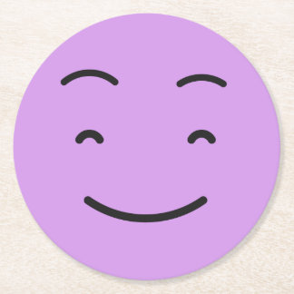 Cute Smiley paper coasters 4/9