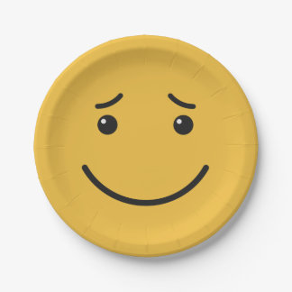 Cute Smiley paper plates 6/9
