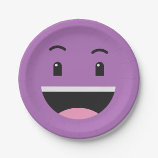 Cute Smiley paper plates 8/9
