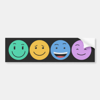 Cute Smileys custom bumpersticker Bumper Sticker