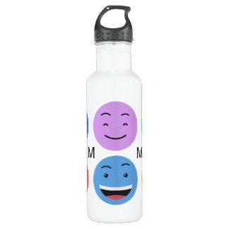 Cute Smileys custom monogram water bottles