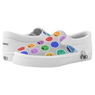 Cute Smileys custom name shoes