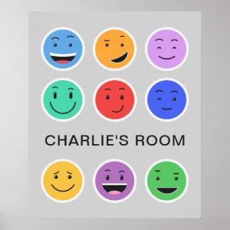 Cute Smileys custom text poster