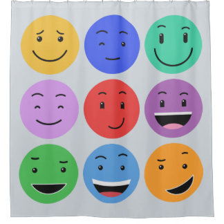 Cute Smileys shower curtain
