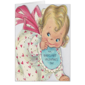 Cute Smiling Baby's First Valentine's Day Card