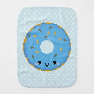 Cute Smiling Blue Donut Burp Cloth