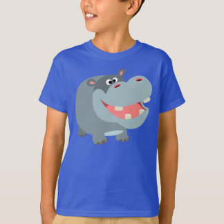 Cute Smiling Cartoon Hippo Children T-Shirt