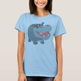 Cute Smiling Cartoon Hippo Women T-Shirt