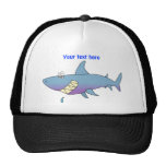 Cute Smiling Cartoon Shark Customisable Template Cap