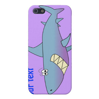 Cute Smiling Cartoon Shark Customizable Template Covers For iPhone 5