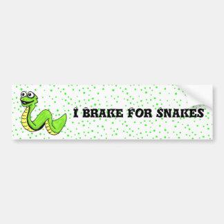 Cute Smiling Cartoon Snake Bumper Stickers