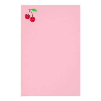 Cute Smiling Cherries Personalized Stationery
