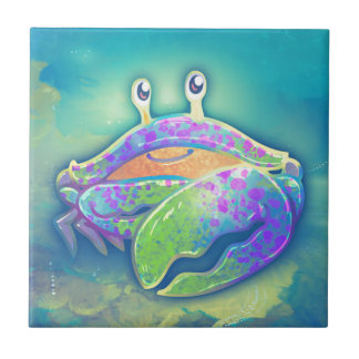 Cute Smiling Crab Tile