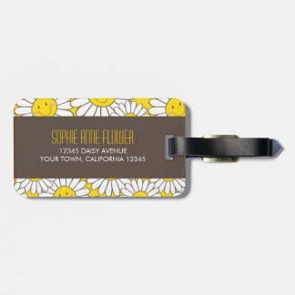 Cute Smiling Daisies Personalizable Luggage Tag