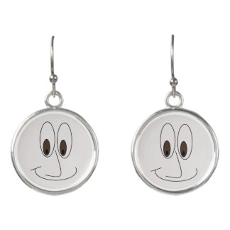 Cute Smiling Face Print Earrings