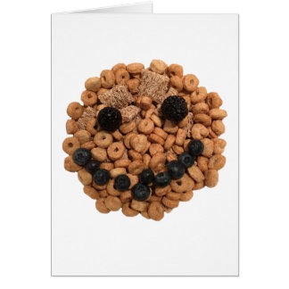 Cute Smiling Fruit and Cereal Face Card