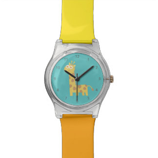 Cute smiling giraffe for kids watch