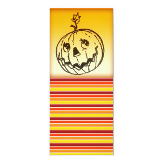 Cute Smiling Jack O Lantern Halloween 10 Cm X 24 Cm Invitation Card