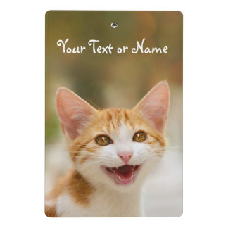 Cute Smiling Kitten Funny Cat Meow - Personalized Mini Clipboard