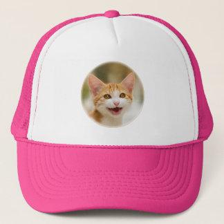 Cute smiling kitten funny cat meow trucker hat