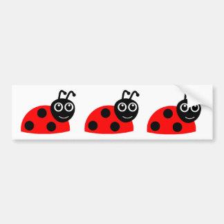 Cute Smiling Ladybug Cartoon Bumper Stickers