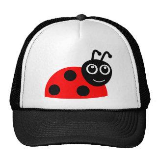 Cute Smiling Ladybug Cartoon Hat