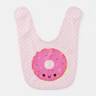 Cute Smiling Pink Donut Baby Bib
