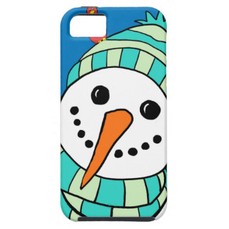 Cute Smiling Snowman Case For The iPhone 5