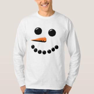 Cute Smiling Snowman Face Festive Holiday Xmas T-Shirt
